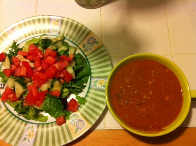 Turkey chili with garden salad