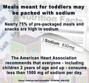 Sodium in Toddler Food Infographic