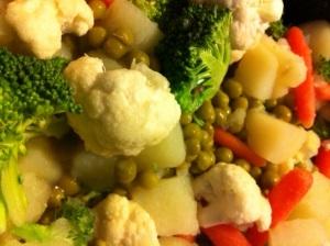 Vegetable mixture for turkey stew