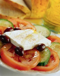 Beefsteak Tomatoes and Feta Cheese