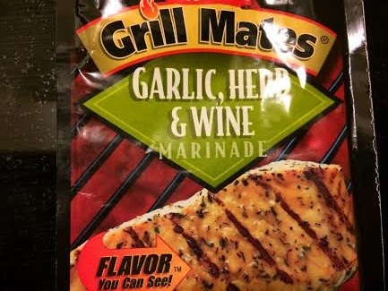 Garlic, herb and wine marinade